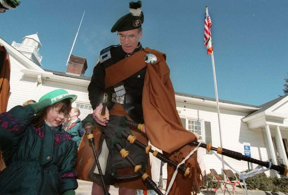 No. 5: New Fairfield. The town of New Fairfield has the fifth largest percentage of resident claiming an Irish ancestry in Southwestern Connecticut, at 25.6 percent. 6 yr old Shannon Farinha of New Fairfield learns a little about the bagpipes from John Middleton of Southbury at the N.F. St. Patric's Day parade.