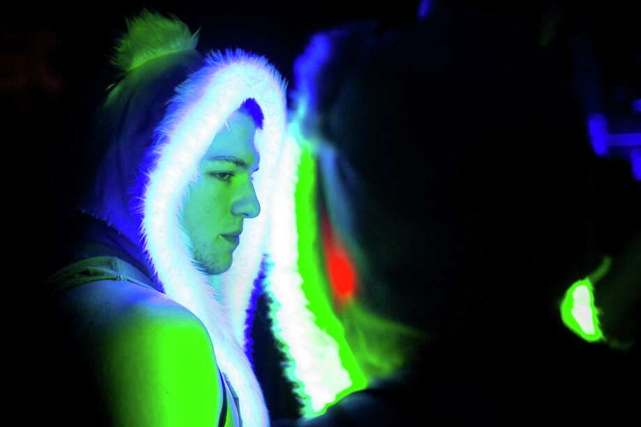 LED-wired hoods lit up the night at Lucky 2013. Photo: JORDAN STEAD / SEATTLEPI.COM
