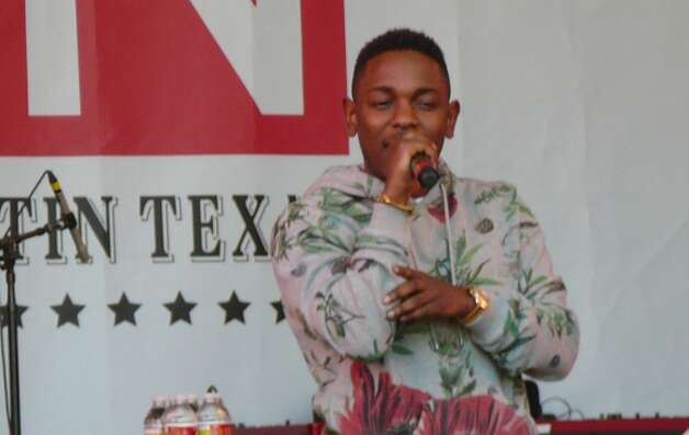 "A rowdy crowd at Stubb's shouted along with tracks from rapper Kendrick Lamar's acclaimed CD ""Good Kid: M.A.A.D City."" Photo: Jim Kiest / San Antonio Express-News"