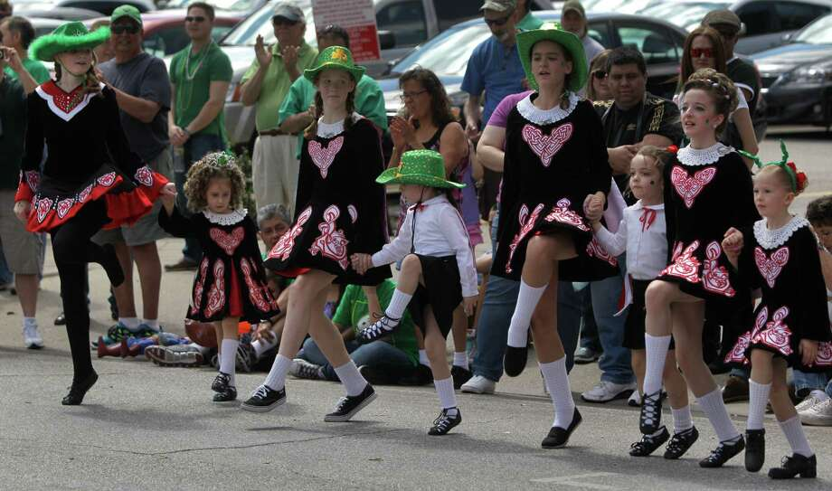 The McTeggart Irish Dancers of South Texas perform during the 54th annual Houston St. Patrick's Day Parade Saturday, March 16, 2013, in Houston. Photo: Melissa Phillip, Houston Chronicle / © 2013  Houston Chronicle