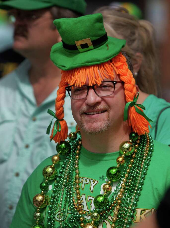 Randy Folse of Houston shows his Irish spirit during the 54th annual Houston St. Patrick's Day Parade Saturday, March 16, 2013, in Houston. Photo: Melissa Phillip, Houston Chronicle / © 2013  Houston Chronicle