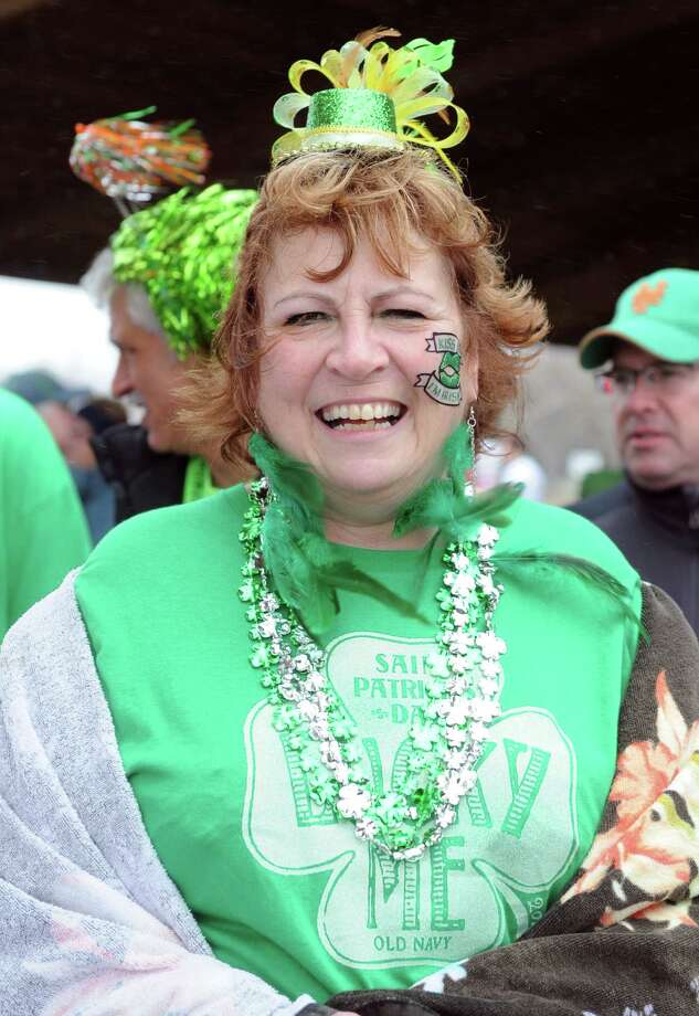 Brave participants take part in the annual Leprechaun Leap to benefit the Literacy Center of Milford Saturday, Mar. 16, 2013 at Walnut Beach in Milford, Conn. Photo: Autumn Driscoll / Connecticut Post