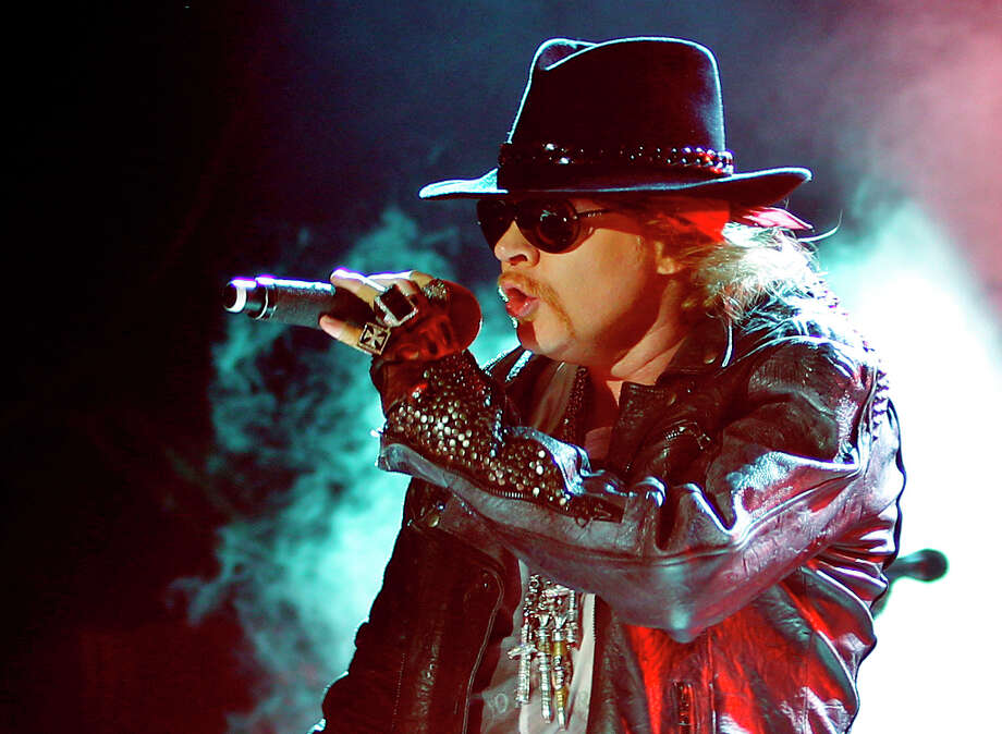 This Dec. 7, 2012 file photo shows Axl Rose, lead vocalist of Guns N' Roses performing during their concert in Bangalore, India. Photo: Aijaz Rahi, Associated Press / AP