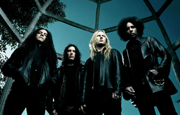 Alice in Chains, from left, Mike Inez, Sean Kinney, Jerry Cantrell and William DuVall. Photo: James Minchin, AP / Virgin/EMI