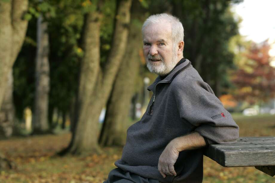 In this Oct. 25, 2006 file photo, Booth Gardner sits in Wright Park, near his home in Tacoma.