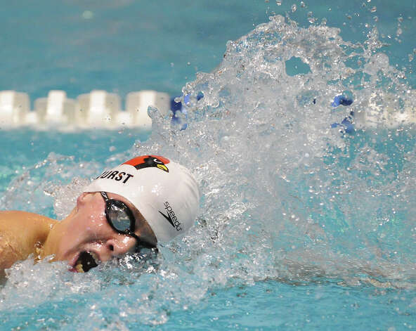 Ben Wurst of Greenwich competes in the 200 freestyle event during the State Open swimming championships at Yale University, New Haven, Conn., Saturday, March 16, 2013. Photo: Bob Luckey / Greenwich Time
