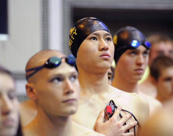 State Open swimming championships at Yale University, New Haven, Conn., Saturday, March 16, 2013. Photo: Bob Luckey / Greenwich Time