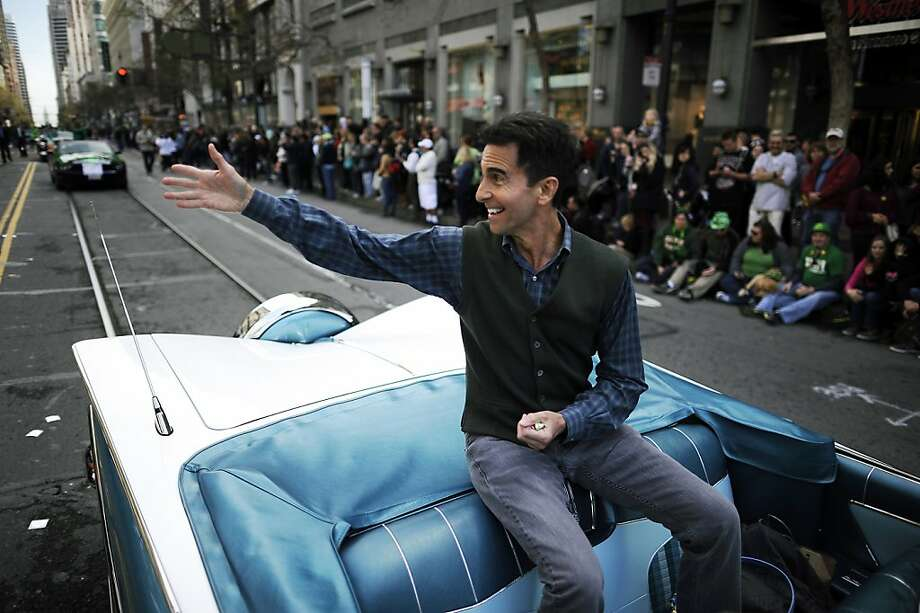 11th district State Senator Mark Leno waves to the crowd at the annual St. Patrick's Day Parade in San Francisco, Saturday March 16th, 2013. Photo: Michael Short, Special To The Chronicle