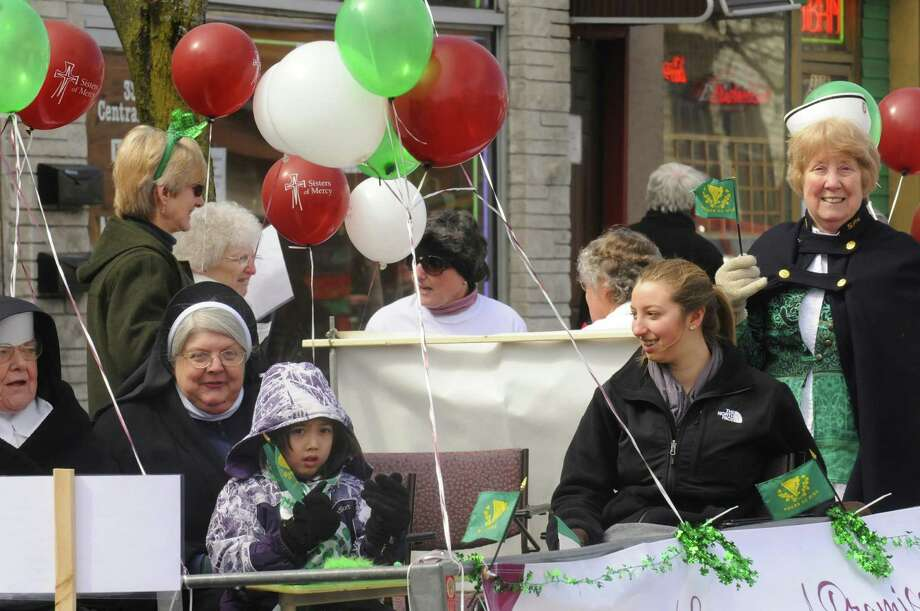 A float in celebration of the Sisters of Mercy 150th anniversary takes part in the Albany St. Patrick's Day Parade on Saturday March 16, 2013 in Albany, N.Y. (Michael P. Farrell/Times Union) Photo: Michael P. Farrell