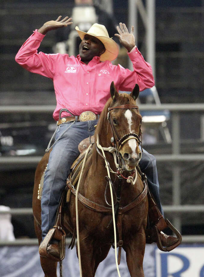 Fred Whitfield of Hockley celebrates his championship. Photo: Karen Warren, Houston Chronicle / © 2013 Houston Chronicle