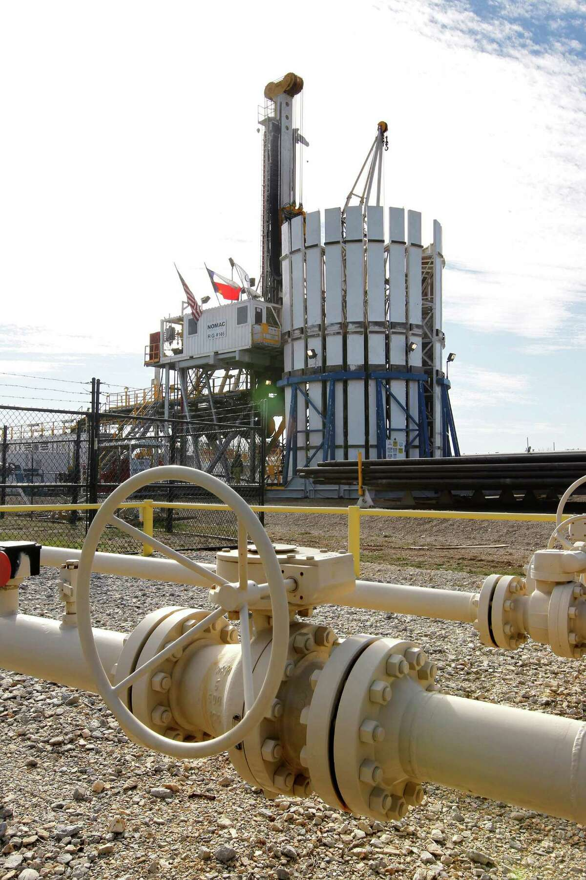 Oklahoma City-based Chesapeake, which has this production facility in Fort Worth, is dealing with low natural gas prices and heavy debt. Natural gas still makes up 76 percent of its total output, down from 81 percent a year ago.