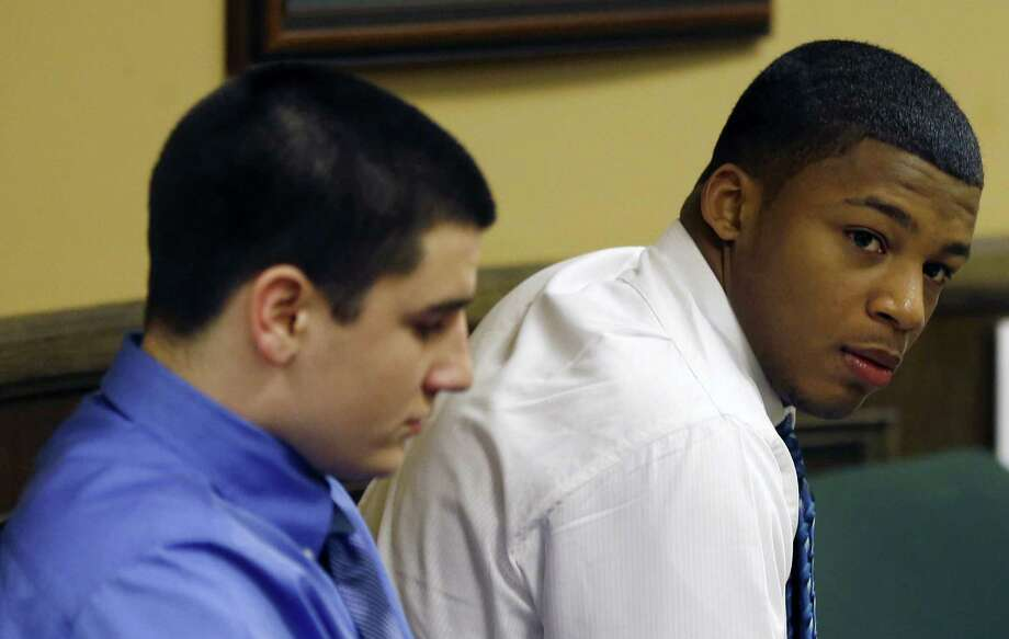 Trent Mays (left) and Ma'lik Richmond of Steubenville, Ohio, are accused of raping a 16-year-old West Virginia girl. Photo: Keith Srakocic / Associated Press