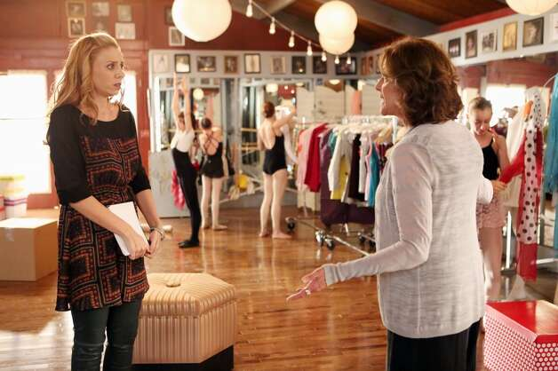Here's Stacey Oristano, left, in the show ''Bunheads.''