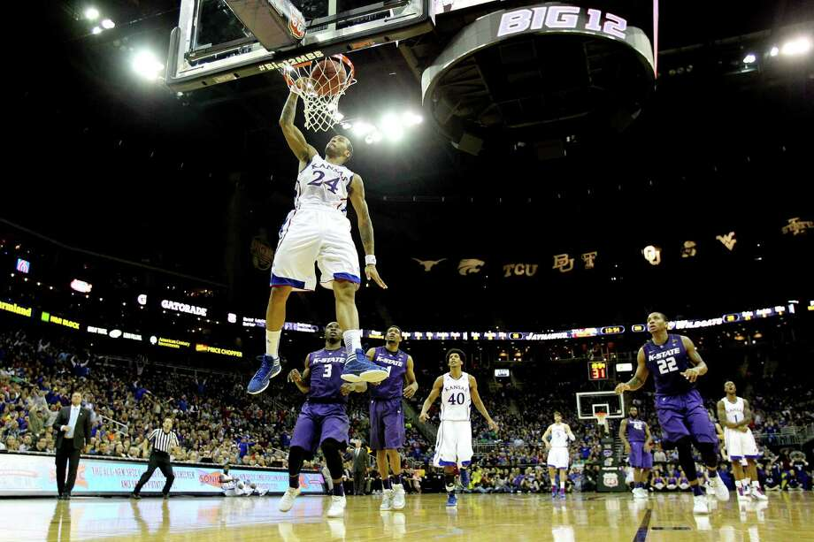Travis Releford (24) and Kansas captured the Jayhawks' ninth Big 12 tournament championship Saturday. Photo: Jamie Squire / Getty Images