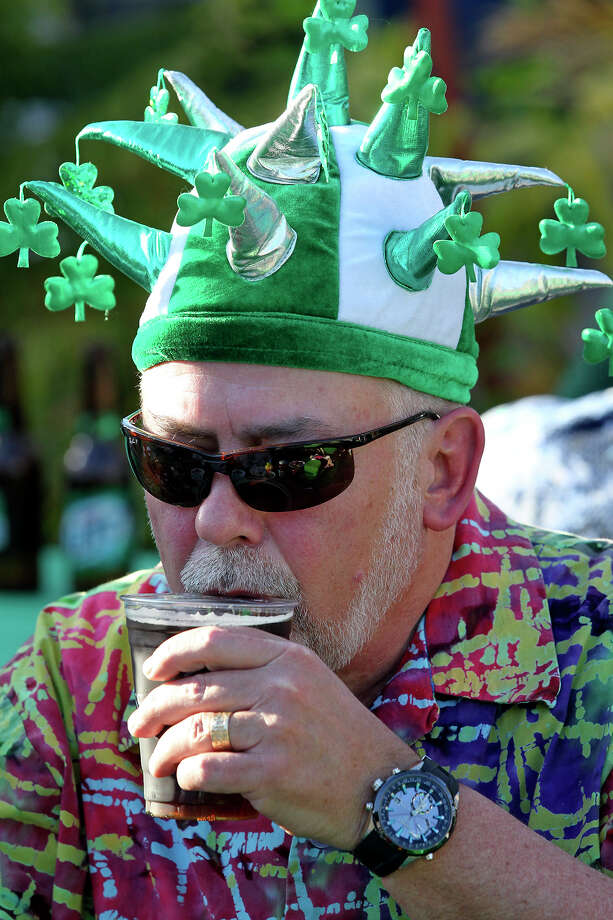 Sean Dooley sips a beer as St. Patrick's Day is celebrated at Beethoven Hall  on  March 16, 2013. Photo: Tom Reel, San Antonio Express-News