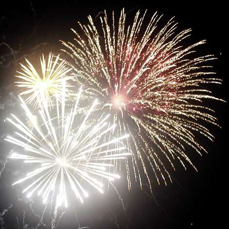 Fireworks kicked off at 8 P.M. at the Orange County Riverfront Festival on Saturday, March 16, 2013. Photo taken: Randy Edwards/The Enterprise Photo: Randy Edwards