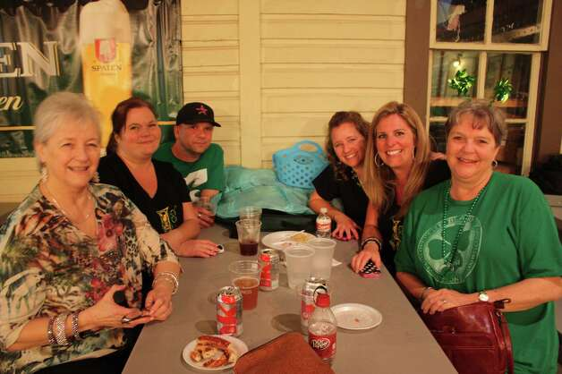 Revelers celebrate all things Irish at the Harp and Shamrock Society of Texas' Irish Hooley @ O'Beethoven at the Beethoven Maennechor on Saturday night, March 16, 2013. Photo: Libby Castillo,  For MySA.com