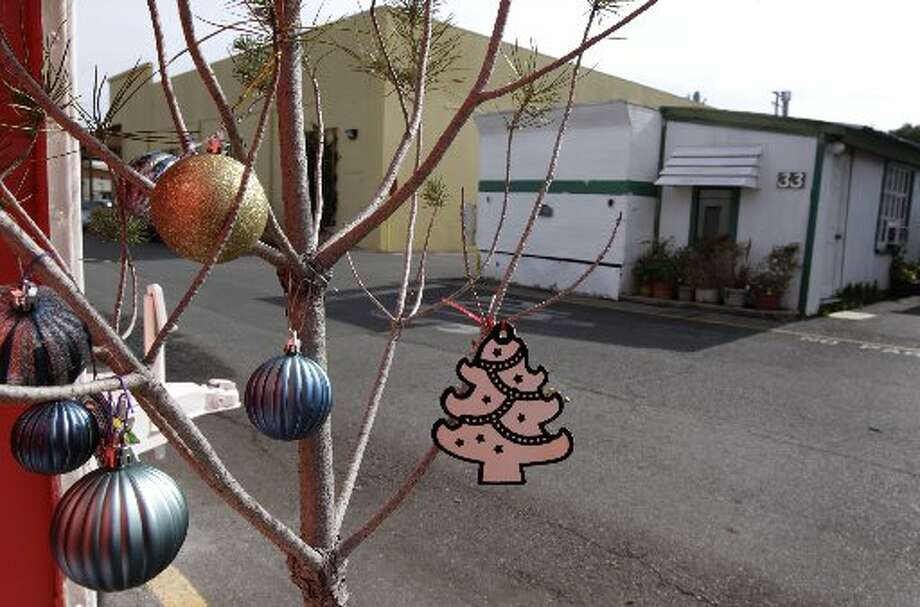 Christmas ornaments decorate a small tree at Saul Bracamontes' mobile home at the Buena Vista trailer park in Palo Alto, Calif. on Thursday, March 14, 2013. The owners of the property have applied for permission from the city to close it, sell the land to a big developer and evict the residents of the 117 homes on the site.