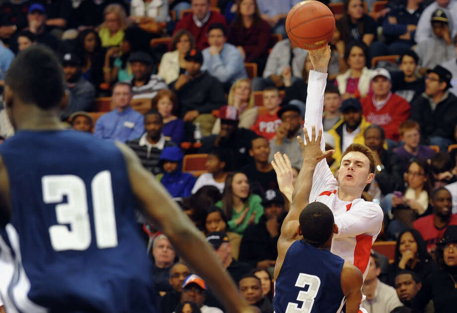 Class LL boys basketball final action between Fairfield Prep and Hillhouse at Mohegan Sun Arean in Uncasville, Conn. on Saturday March 16, 2013. Photo: Christian Abraham / Connecticut Post