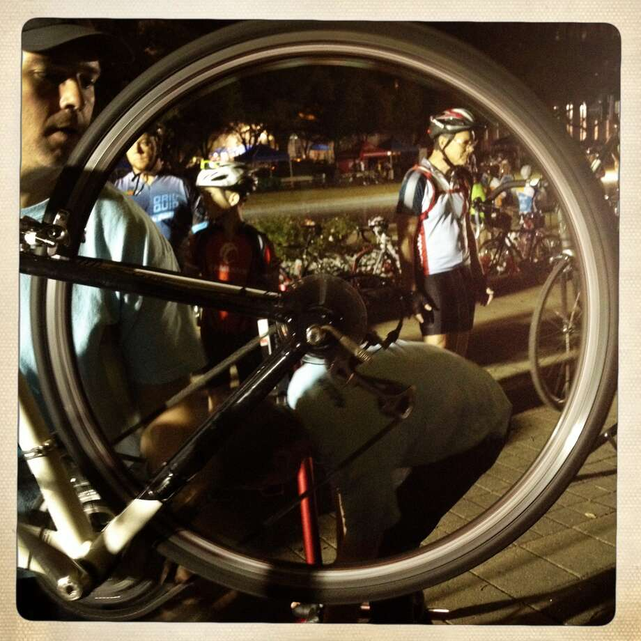 Riders prepare for the Tour de Houston. (Eric Kayne/Chronicle)
