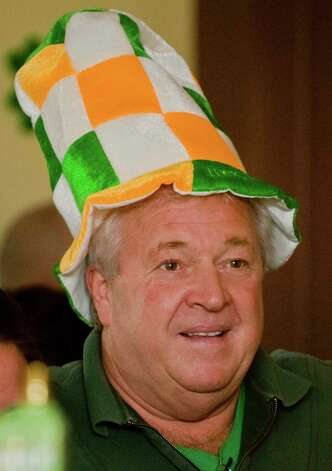Ralph Gallagher of Danbury wears a hat with Irish colors to celebrate St. Patrick's Day at the Greater Danbury Irish Cultural Center. Sunday, Mar. 17, 2013 Photo: Scott Mullin