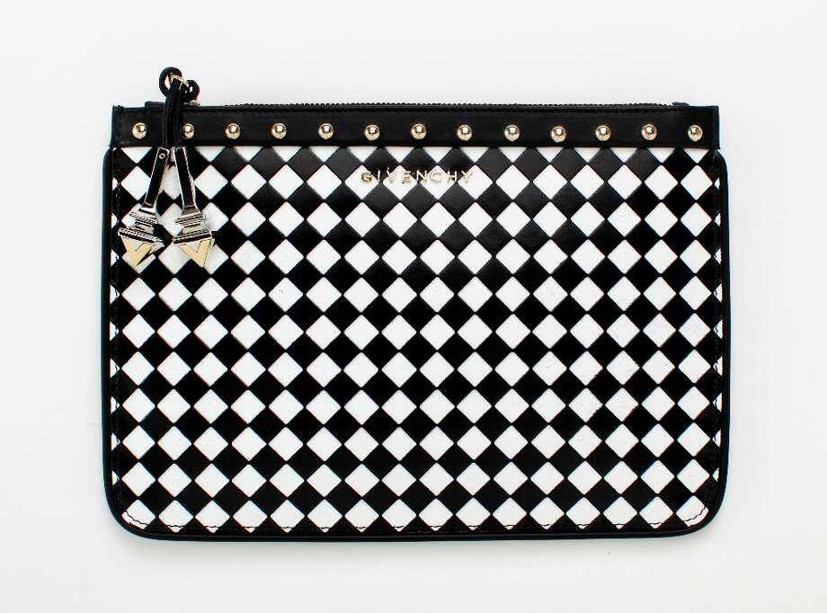 Givenchy Woven Zipper Pouch, Barneys, $930. Photo: Russell Yip, The Chronicle / ONLINE_YES