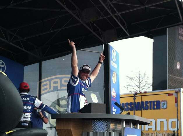Jasper resident Todd Faircloth won the Bassmaster Elite Series Sabine River Challenge in Orange on Sunday, March 17, 2013. Photo: Jared Ainsworth