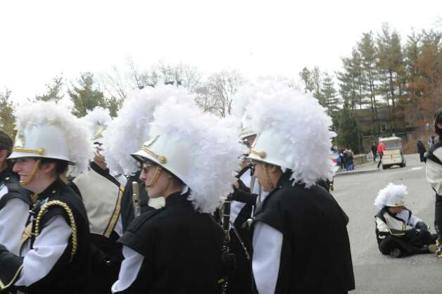 Bands get ready at the Greenwich's 39th annual St. Patrick's Day parade at Greenwich Avenue, in Greenwich, Conn., March 17, 2013. Photo: Helen Neafsey / Greenwich Time