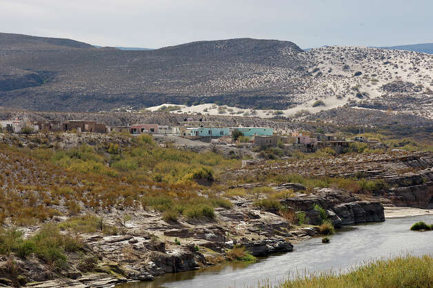 A view of Boquillas del Carmen, Mexico from an overlook in Big Bend National Park, Thursday, Jan. 6, 2011. The international crossing at Boquillas in the park was closed in May 2002 in reaction to the Sept. 11 attacks. Customs and Border Protection Commissioner Alan Bersin announced during a press conference at the park that the crossing is scheduled to open again. Photo: JERRY LARA, San Antonio Express-News / glara@express-news.net