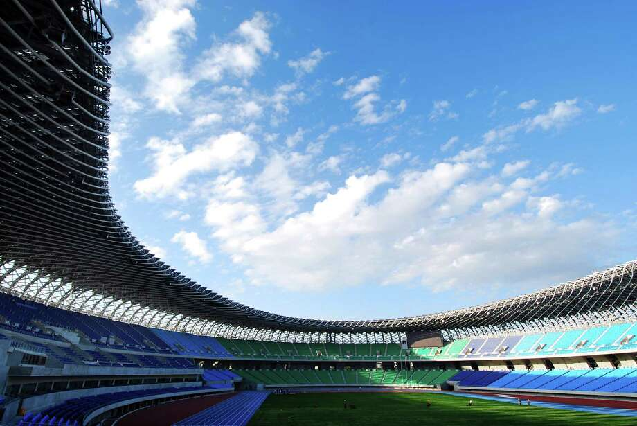 This publicity photo provided courtesy of Toyo Ito and Associates, Architects, shows Japanese architect Toyo Ito's Main Stadium for The World Games 2009 in Kaohsiung, Taiwan. Ito has won the 2013 Pritzker Architecture Prize, the prize's jury announced Sunday, March 17, 2013. Ito, the sixth Japanese architect to receive the prize, is recognized for the libraries, houses, theaters, offices and other buildings he has designed in Japan and beyond. (AP Photo/Courtesy of Toyo Ito and Associates, Architects, Fu Tsu Construction Co., Ltd.) Photo: Fu Tsu Construction Co., Ltd.