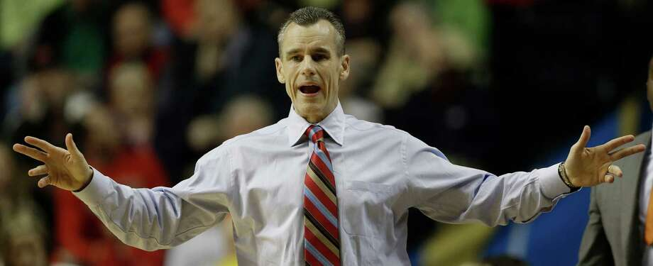 Florida head coach Billy Donovan reacts to play against Mississippi during the first half of an NCAA college basketball game in the final round of the Southeastern Conference tournament, Sunday, March 17, 2013, in Nashville, Tenn. (AP Photo/Dave Martin) Photo: Dave Martin