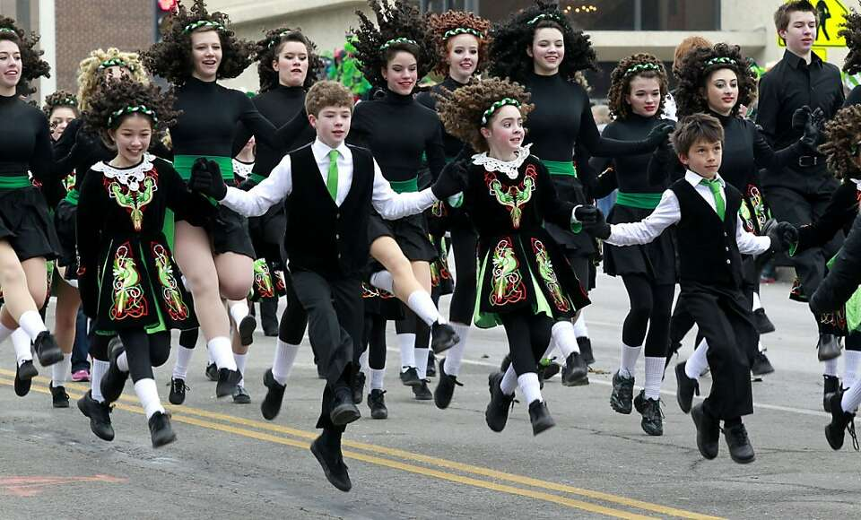 The O'Riada McCarthy Manning Academy of Dance went airborn during the Kansas City Saint Patrick's Da