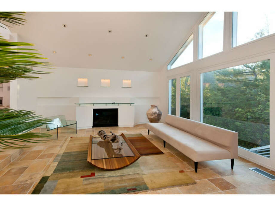 Floor to ceiling windows bring in lots of natural light