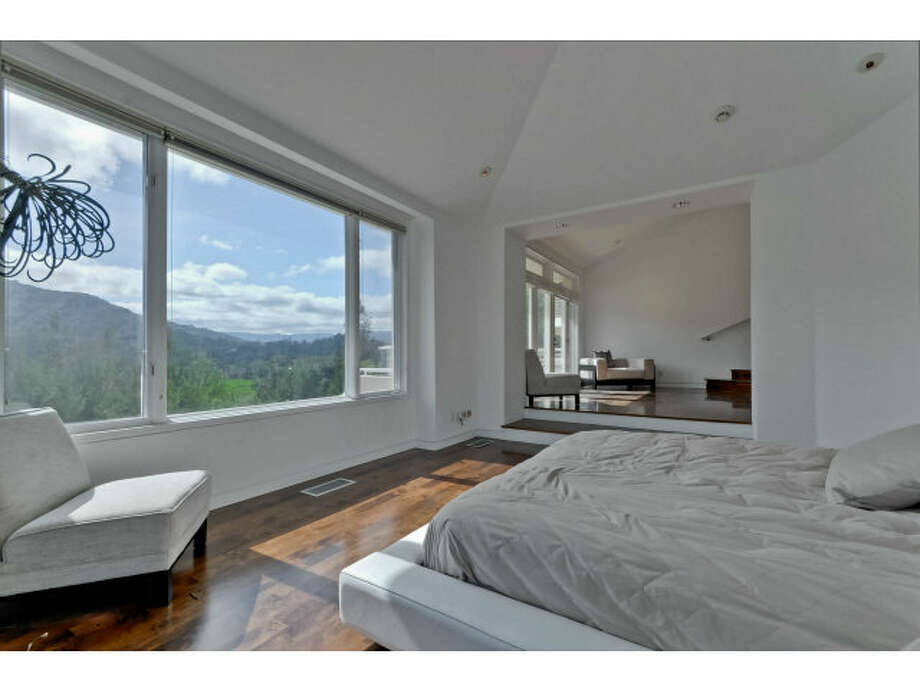Room looks out to hillside view