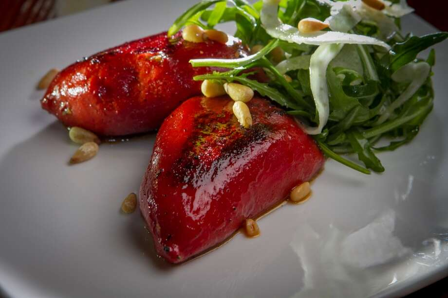 The stuffed piquillo peppers