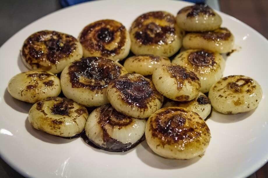 Cipollini onions ready for paella.