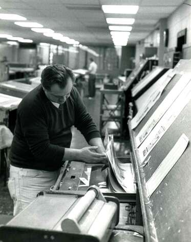 Pages are composed at the Times Union in Colonie, N.Y. (Times Union archive)
