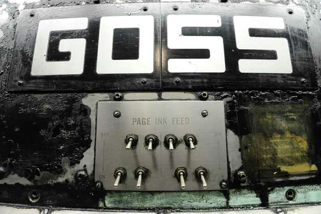 Detail of the old Goss press during the last run at the Times Union on Sunday, March 17, 2013 in Colonie, N.Y.  (Lori Van Buren / Times Union) Photo: Lori Van Buren