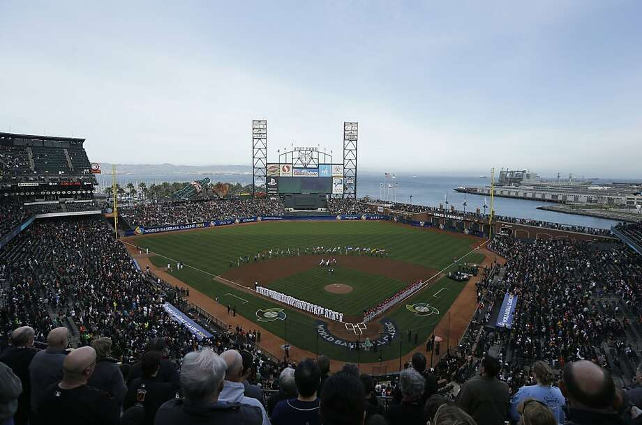 AT&T Park is shown before a semifinal game of the World Baseball Classic between Japan and Puerto Rico in San Francisco, Sunday, March 17, 2013. Photo: Jeff Chiu, Associated Press