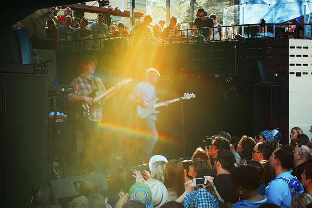 Alt-J made the crowd so happy a rainbow appeared.  Photo: Butchershop Creative