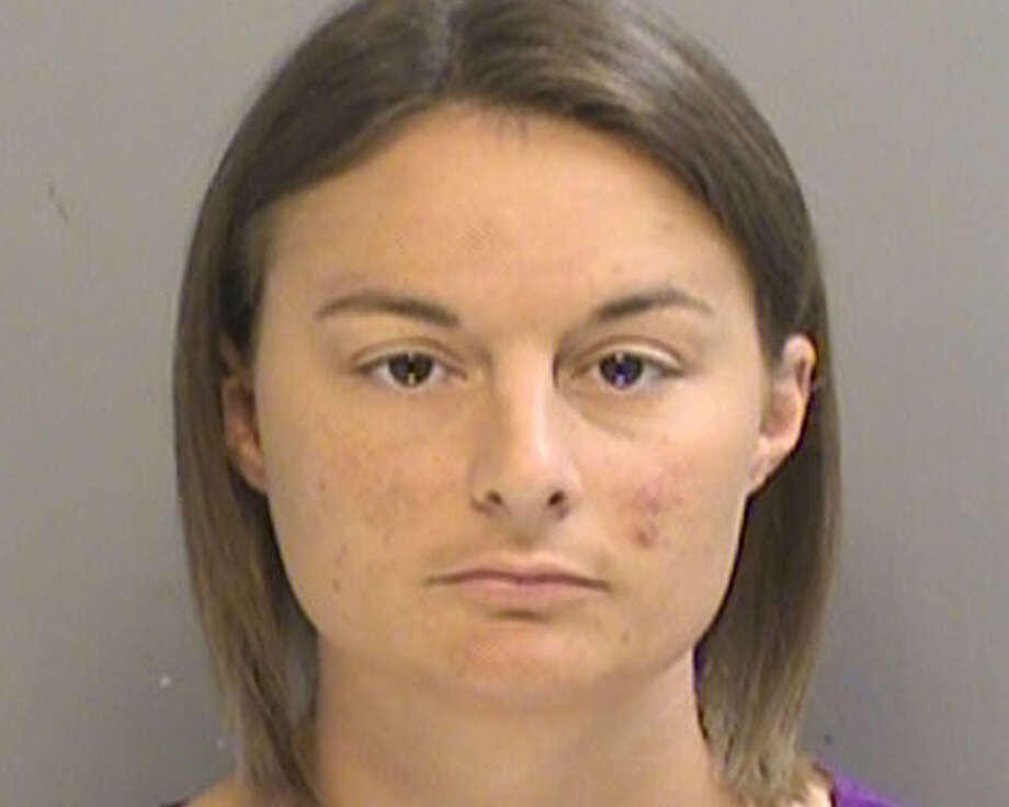 Brittni Colleps, of Arlington, was convicted of having sex with five 18-year-old students at her home. One of the students filmed an encounter that involved several students at once. Parents: while the students were all of adult age, Texas state law prohibts any teacher in a primary or secondary school from having sex with an enrolled student.  Photo: Chronicle / Arlington Police Department