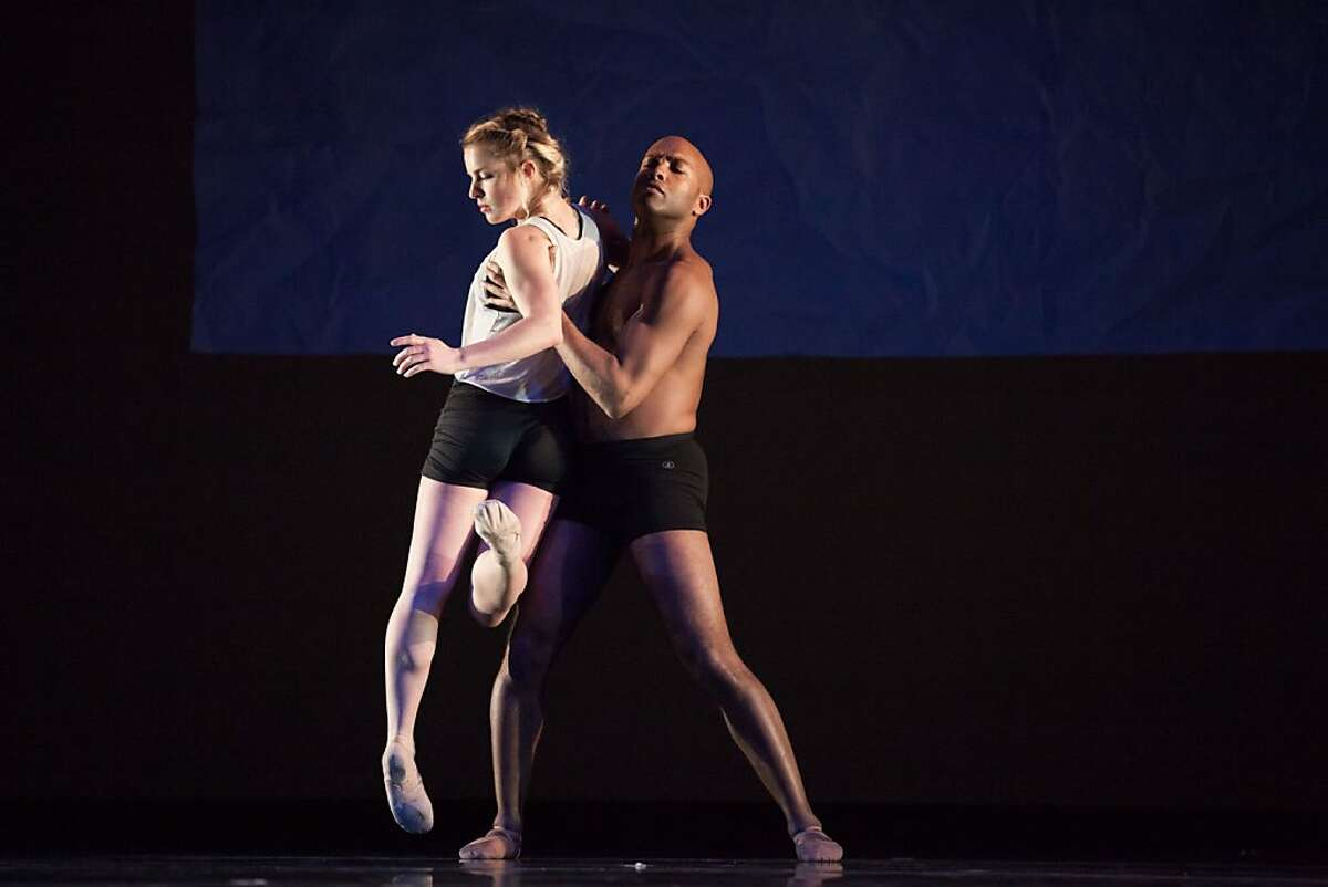 ODC dancers Maggie Stack and Corey Brady perform in the world premiere of Triangulating Euclid Photographer Credit: Margo Moritz