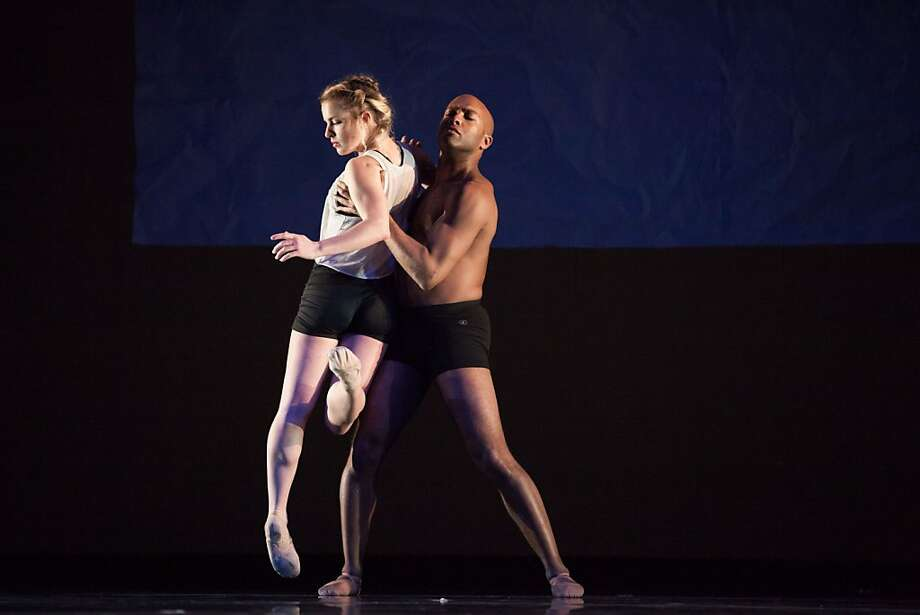 "ODC dancers Maggie Stack and Corey Brady in ""Triangulating Euclid."""