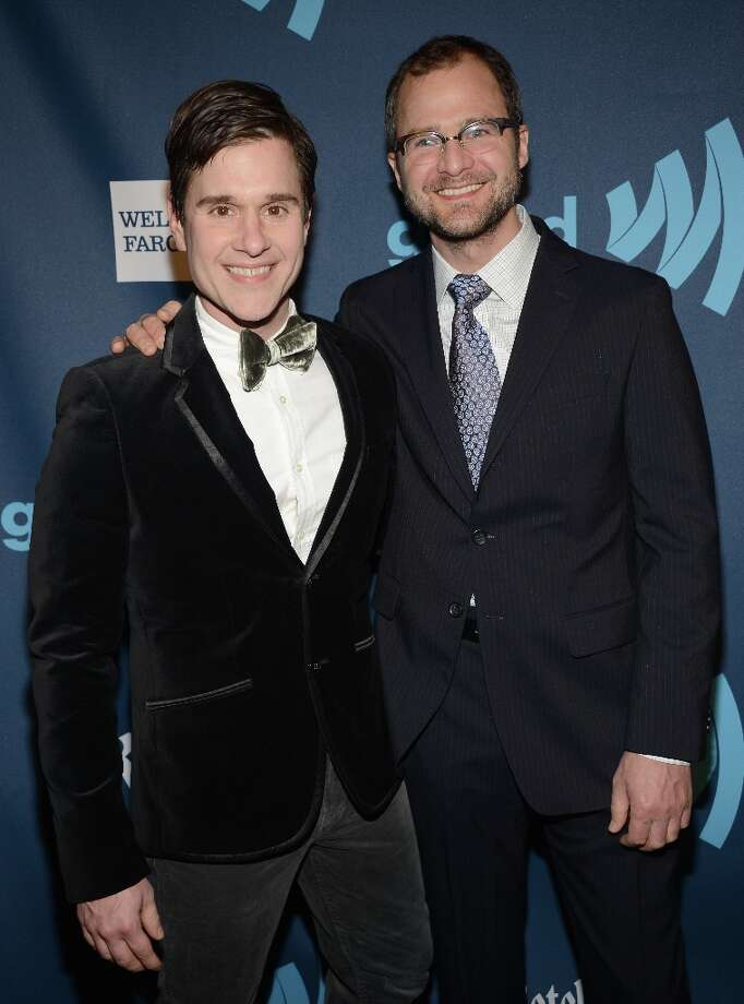 Dr. Brent Ridge and Josh Kilmer-Purcell attends the 24th Annual GLAAD Media Awards on March 16, 2013 in New York City. Photo: Jamie McCarthy, Getty Images For GLAAD / 2013 Getty Images