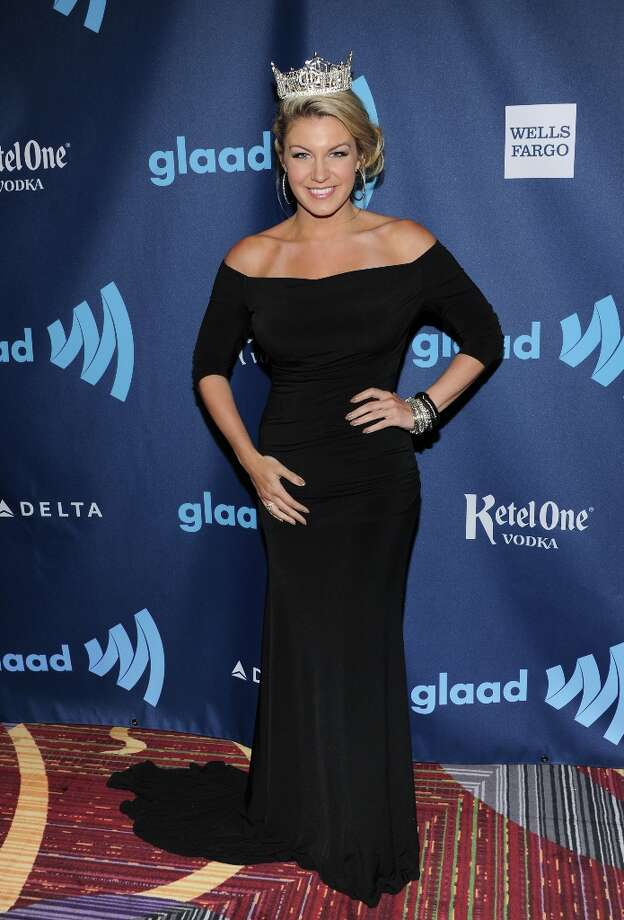 Miss America Mallory Hagan attends the 24th Annual GLAAD Media Awards at the Marriott Marquis on Saturday March 16, 2013 in New York. (Photo by Evan Agostini/Invision/AP) Photo: Evan Agostini, Associated Press / Invision
