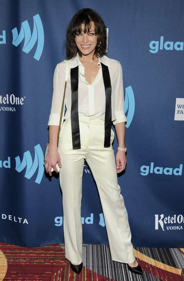 Actress Milla Jovovich attends the 24th Annual GLAAD Media Awards at the Marriott Marquis on Saturday March 16, 2013 in New York. (Photo by Evan Agostini/Invision/AP) Photo: Evan Agostini, Associated Press / Invision