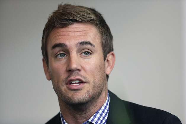 Former MLS soccer player Taylor Twellman speaks during a concussion symposium in Villanova, Pa. March 15th.  His career was cut shot by repeated concussions received while playing soccer. Photo: Matt Rourke, Associated Press