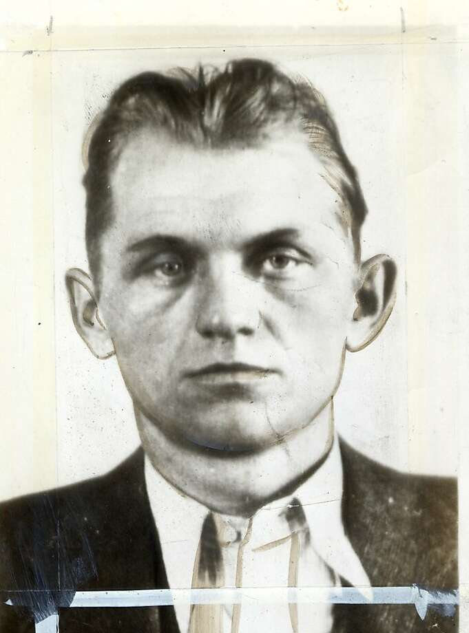 "Basil Banghart, a machine gunner during the Prohibition era,  served more than 11 years at Alcatraz Federal Prison and transferred to Joliet State Prison in Illinois in 1954.  Banghart and fellow inmate Alvin Karpis worked the kitchen where they were known as the """"Karpis Kitchen Crew.""  They reportedly learned how to make wine from cherry pie juices. Photo: Courtesy Photo"