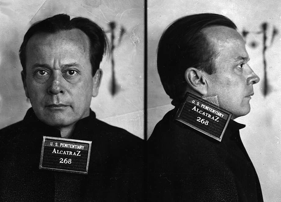Prisoner Arthur Barker was convicted of theft, robbery, murder, and kidnapping.  He arrived at Alcatraz in 1936 and was killed trying to escape with fellow inmates Henri Young and Rufus McCain on January 13, 1939. Young and McCain were recaptured. Photo: Bureau Of Prisons, University Of California Press
