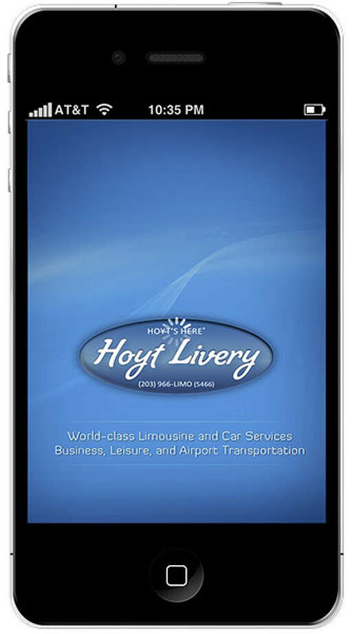 Hoyt Livery of New Canaan is offering a free app to clients looking to book and check travel trips. Photo: Contributed